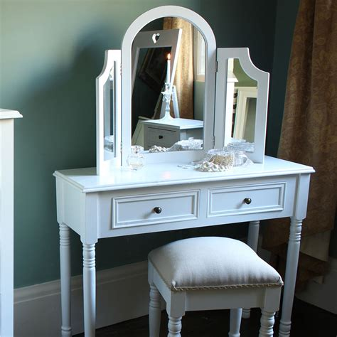 Dressing Table Mirror Stool by Eliza White Range Dressing Table Mirror And Stool Set