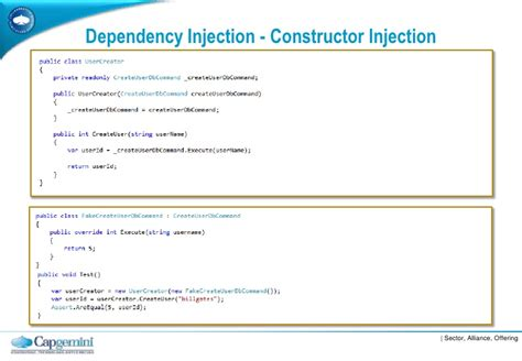 dependency injection constructor or setter inversion of control introduction and best practice
