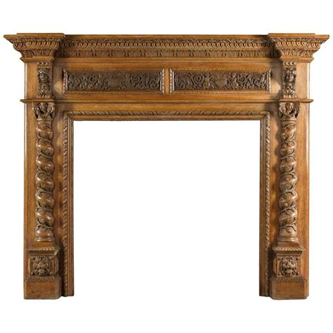 carved fireplace mantels antique italian renaissance style carved oak antique fireplace mantel for sale at 1stdibs