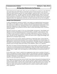 Resume Goal Statement Examples of goal statement examples professional goal statement examples