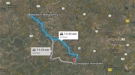 road map from mapusa to pandharpur pune to gondavale pandharpur ganagapura team bhp