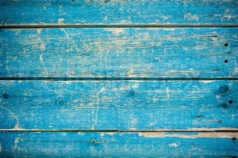 blue paint on wooden fence stock photo colourbox