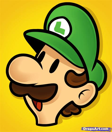 easy drawing how to draw luigi easy step by step characters pop culture free