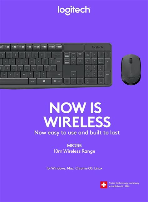Grosir Logitech Combo Mk235 Mouse Keyboard Wireless computer accessories peripherals keyboards mice logitech mk235 wireless keyboard and