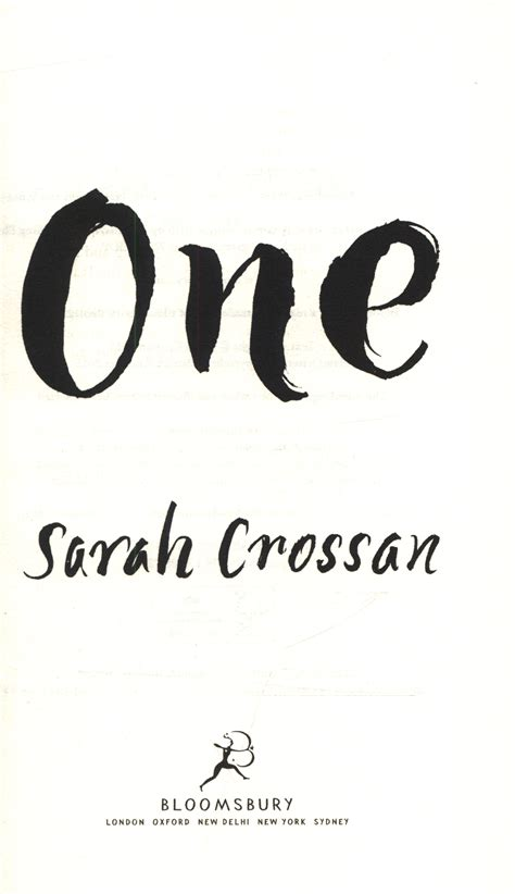 One By Crossan one by crossan 9781408863114 brownsbfs