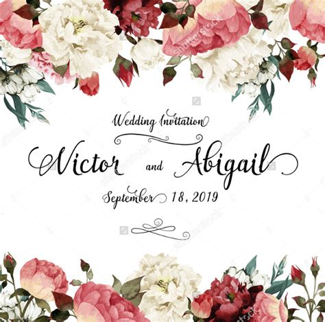 flower design wedding invitation 27 watercolor wedding invitations free premium templates