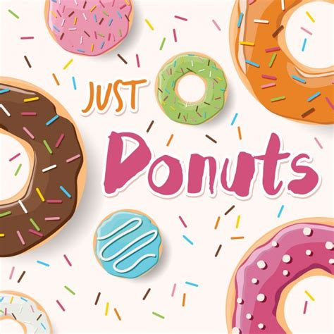 donut background coloured donuts background design vector free