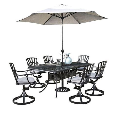 outdoor patio dining sets with umbrella 8 patio dining set with umbrella in charcoal 5560