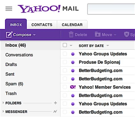 what time does the mail come to my house can i organize my yahoo mail with folders ask dave taylor