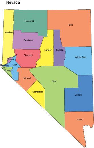 nevada county map nevada map