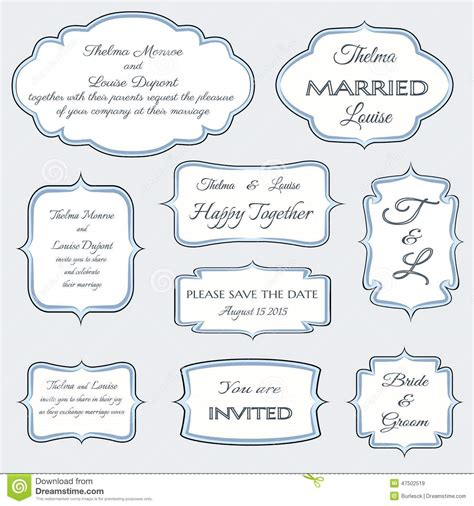 invitation card design elements frames for wedding invitation cards stock vector image