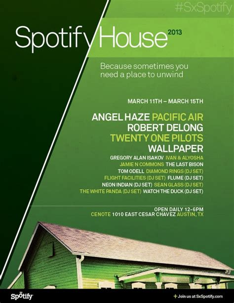 spotify house spotify house sxsw 2013 party announced featuring kendrick lamar mxdwn com