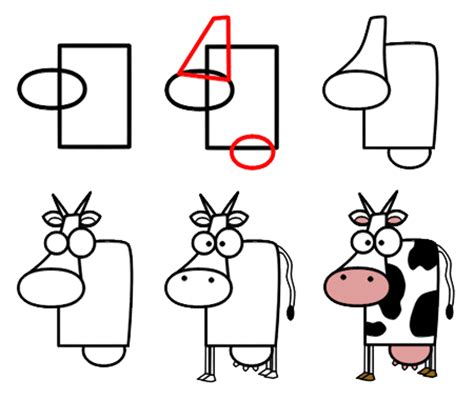 how to a cow how to draw and on