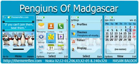 nokia c2 01 themes tones requested theme penguins of madagascar theme for nokia x2