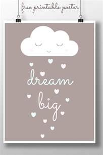 dream big printable poster childhood101