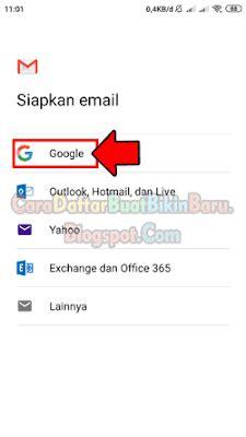 membuat  akun gmail  android menambah email lain