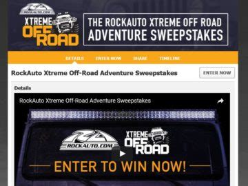 Rockauto Giveaway - rockauto xtreme off road adventure sweepstakes