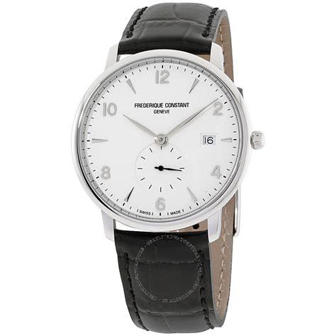 Lines Silver Leather frederique constant slimline fc245sa5s6 s