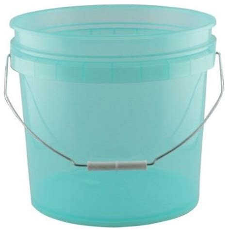 leaktite 3 5 gal green plastic translucent pail 10 pack