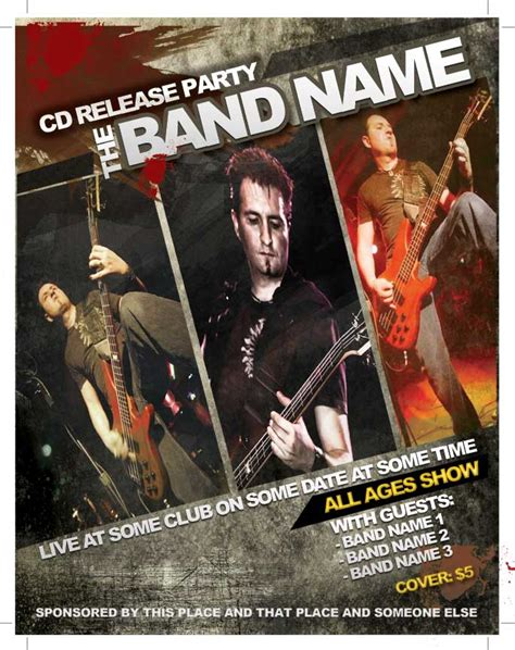 band templates 16 band flyer template photoshop images photoshop band