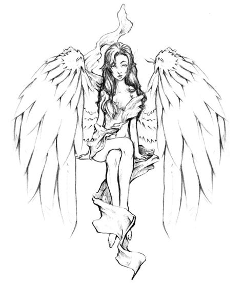 tattoo angel outline angel tattoos and designs page 469