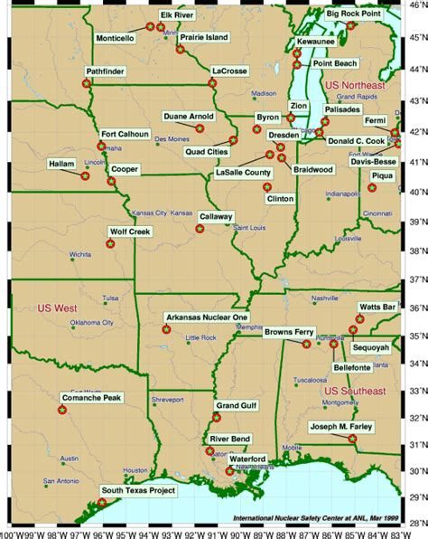 central us road map roadtechs america atlas of nuclear power plants