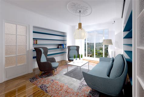 agréable Salon De Jardin De Luxe #4: Agence-Avous-Appartement-art-deco-salon-bibliotheque.jpg