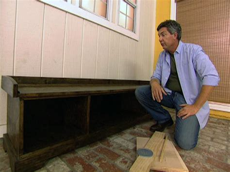how to build mudroom bench make a mudroom bench hgtv