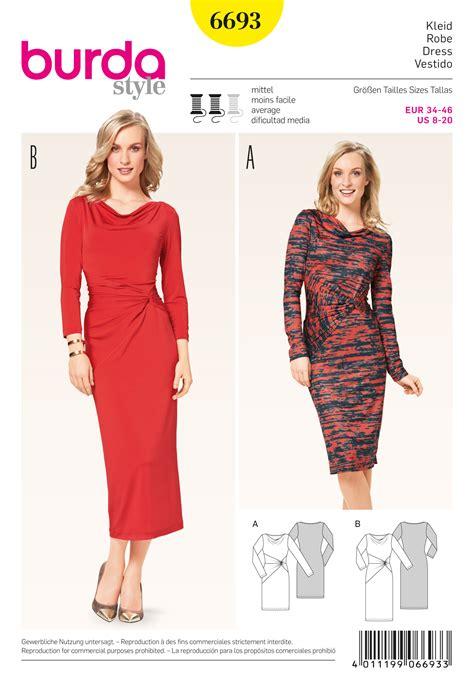 pattern sewing burda burda 6693 misses dress sewing pattern