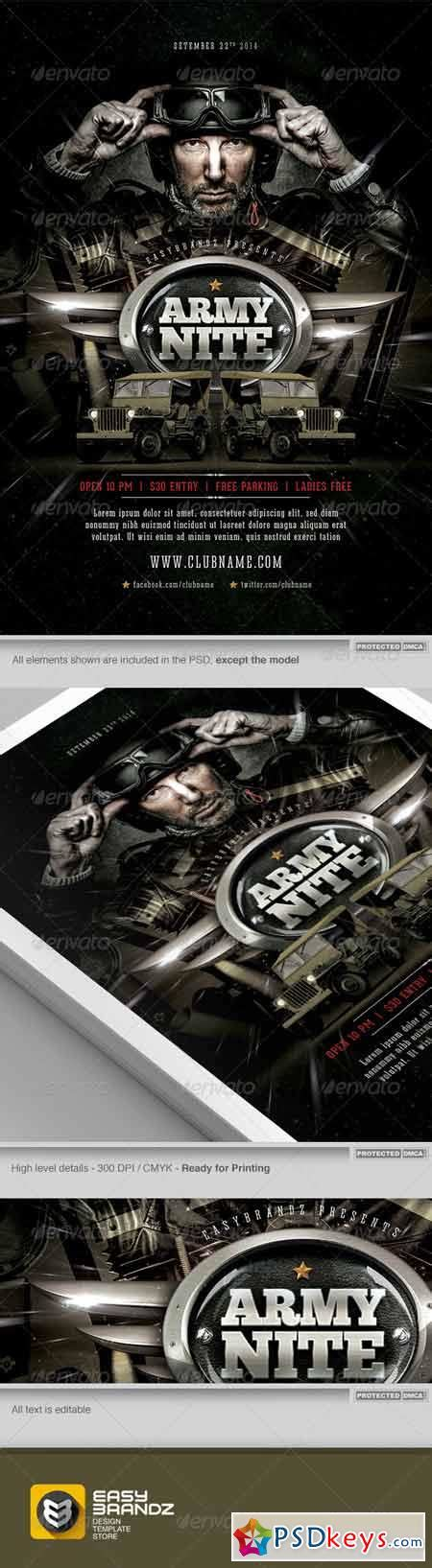military templates for photoshop army nite flyer template 7476586 187 free download photoshop