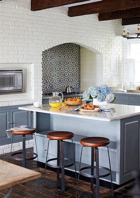 blue and white vintage floral delft tile backsplash in a