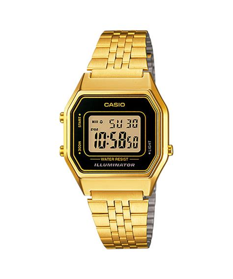 casio standard la680wga 1 digital retro gold design 11street malaysia casual