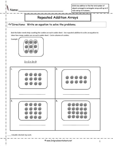Repeated Addition Worksheets Grade 2 by Ccss 2 Oa 4 Worksheets