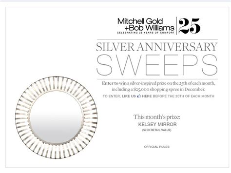 Disney Vacation Club Silver Anniversary Sweepstakes - the mitchell gold bob williams silver anniversary
