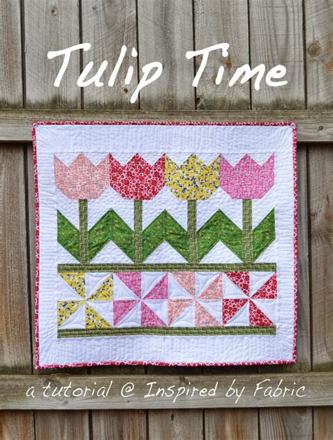 How To Make A Quilt Wall Hanging by Inspired By Fabric Tutorial Tulip Time Wall Hanging