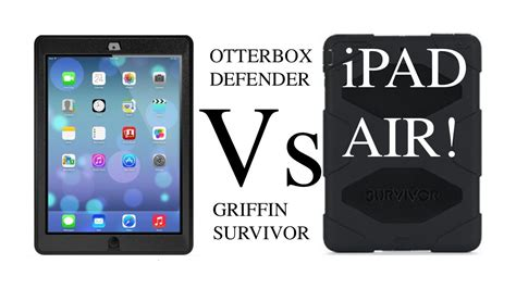youtube tutorial ipad air otterbox defender vs griffin survivor for apple ipad air