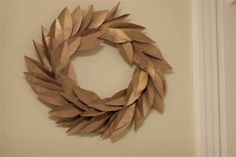 Paper Bag Crafts For Adults - paper bag wreaths crafts for pbs parents