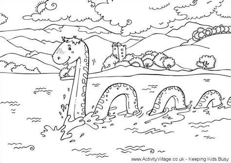 loch ness monster colouring page