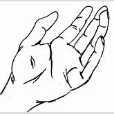 Back Of Right Hand Drawing | Clipart Panda - Free Clipart Images