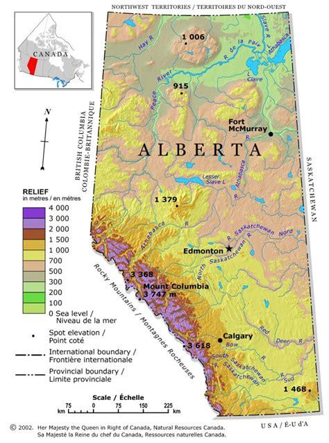 printable road maps of alberta alberta relief map