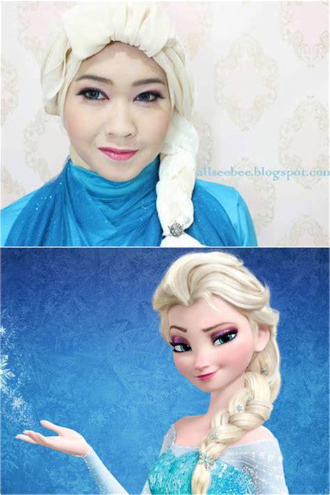 tutorial rambut ala elsa hijabers ala frozen ayyudwi