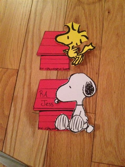 door decs snoopy woodstock peanuts ra ideas