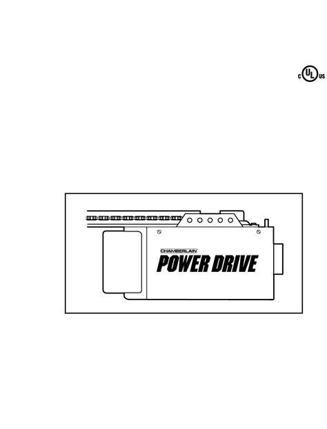 Chamberlain Garage Door Opener Manual 1 2 Hp Chamberlain Garage Door Opener Pd200 User Guide Manualsonline