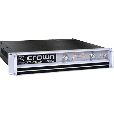 crown macro tech ma 602 power music123