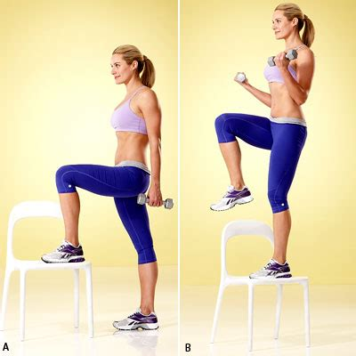 Chair Step Ups by Get Fit Where You Sit With This 10 Minute Chair Workout