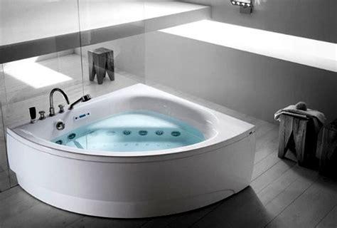 ergonomic corner bathtub  whirlpool function  teuco interior design ideas ofdesign