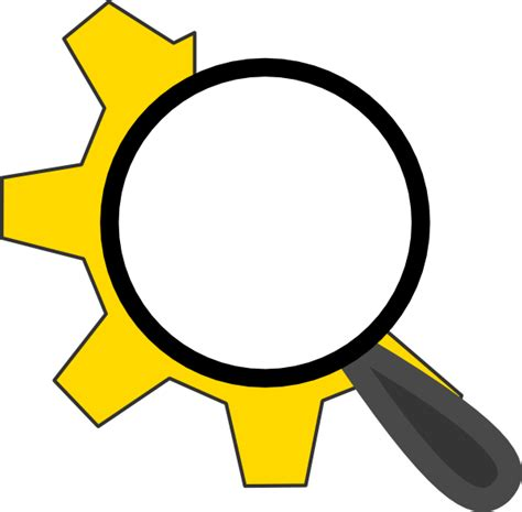 search clipart search config icon 2 clip at clker vector clip