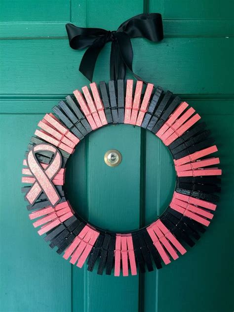 diy cancer ribbon ornaments 25 best ideas about breast cancer wreath on breast cancer crafts pink ribbons and