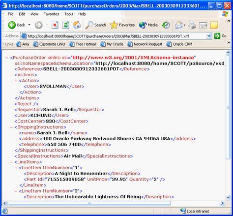 oracle tutorial xml using oracle xml db