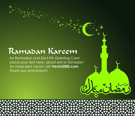 ramadan kareem greeting card template islamic greeting card ai svg eps vector free